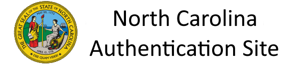 North Carolina Application Authentication Site